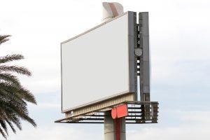 ilustracja do artykułu o planowaniu działań komunikacyjnych, PR i marketing, w NGO. obrazek przedstawia pusty billboard.